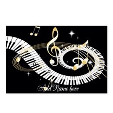 Personalized Piano Musical gi Postcards (Package o
