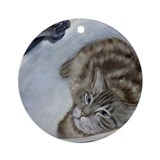 Cat In Sink Ornament (Round)