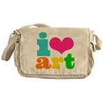I love art Messenger Bag