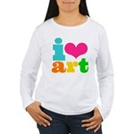 I love art Women's Long Sleeve T-Shirt