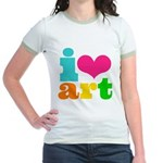 I love art Jr. Ringer T-Shirt