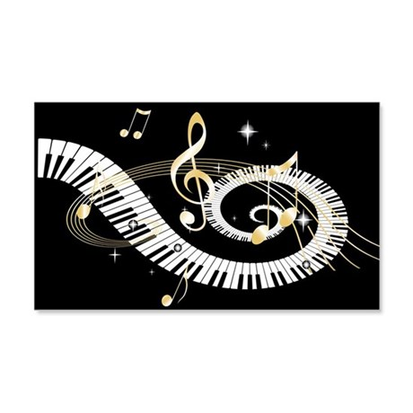 designer Musical notes 22x14 Wall Peel