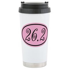 Pink 26.2 Marathon Ceramic Travel Mug