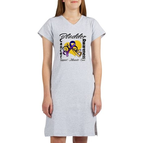 Awareness Bladder Cancer Women's Nightshirt