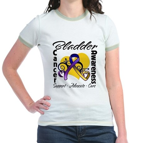 Awareness Bladder Cancer Jr. Ringer T-Shirt