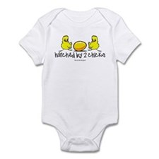 Hatched By 2 Chicks. Infant Body Suit