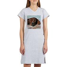 Irish Setter Sleeping Women's Nightshirt
