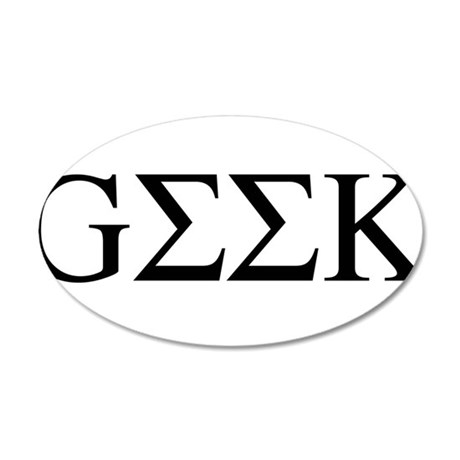 Greek Geek 22x14 Oval Wall Peel