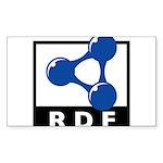 RDF Sticker (Rectangle 10 pk)