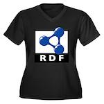 RDF Women's Plus Size V-Neck Dark T-Shirt