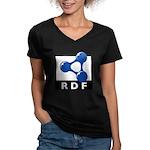 RDF Women's V-Neck Dark T-Shirt