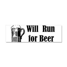 Will Run for Beer Car Magnet 10 x 3