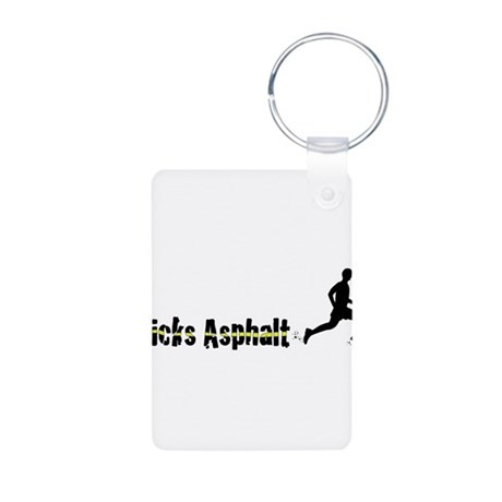 Kicks Asphalt Aluminum Photo Keychain