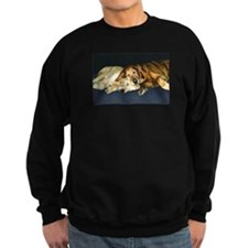 Old Friends Golden Retriever Sweatshirt (dark)