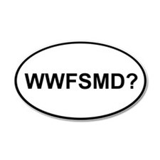 WWFSMD? 22x14 Oval Wall Peel