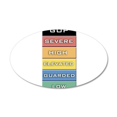 GOP Terror Alert Level 22x14 Oval Wall Peel