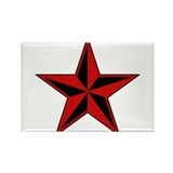Red Star Rectangle Magnet (100 pack)