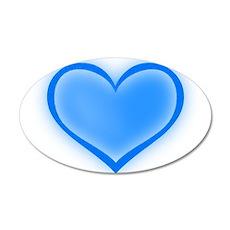 Blue Heart 38.5 x 24.5 Oval Wall Peel
