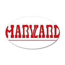 Maryland-Harvard 22x14 Oval Wall Peel