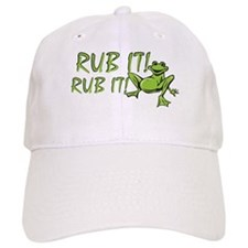 Rub it Frog Baseball Cap