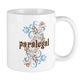 Paralegal Gift Floral Swirl Mug