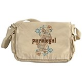 Paralegal Gift Floral Swirl Messenger Bag