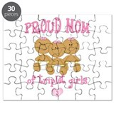 Ethnic Triplets Girls Puzzle