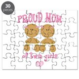 Ethnic Twin Girls Puzzle