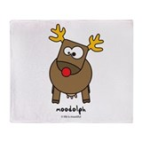 Moodolph Throw Blanket