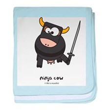 ninja cow baby blanket