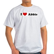I Love Abbie Ash Grey T-Shirt