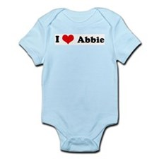 I Love Abbie Infant Creeper