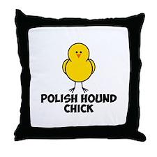 Polish Hound Chick Throw Pillow