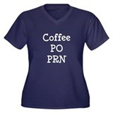 Coffee PO PRN Women's Plus Size V-Neck Dark T-Shir