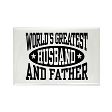 Greatest Husband And Father Rectangle Magnet
