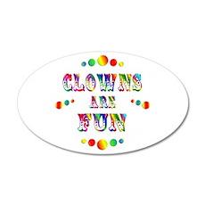 Clowns are Fun 38.5 x 24.5 Oval Wall Peel