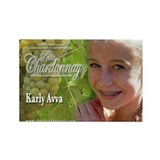 Petite Chardonnay Rectangle Magnet Karly Avva