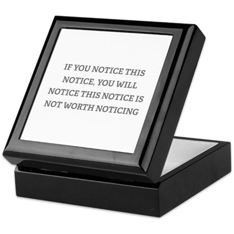 Notice Keepsake Box