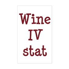 Wine IV Stat Sticker (Rectangle)