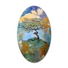 Tree, beautiful, art, 38.5 x 24.5 Oval Wall Peel