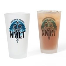 NMCT Caduceus Blue Drinking Glass