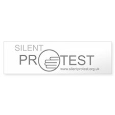Silent Protest Bumper Car Sticker