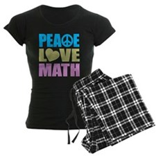 Peace Love Math Pajamas