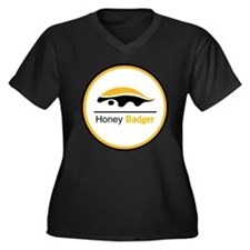 Honey Badger & Moustache Cloc Women's Plus Size V-