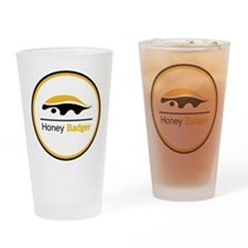 Honey Badger & Moustache Cloc Drinking Glass