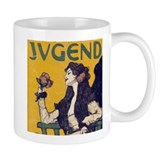 Jugend Art Nouveau Rose Coffee  Tasse