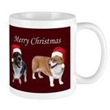 Red Corgi Christmas Mug