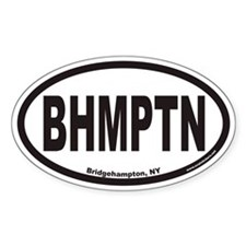 Bridgehampton New York BHMPTN Euro Oval Decal