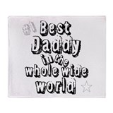 Best Daddy Throw Blanket