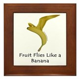 Fruit Flies Like a Banana Framed Tile